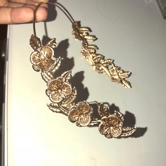 Golden Flower Halo Headband. M 5a60f609f9e501f75d6a7e12 765eba8aeea